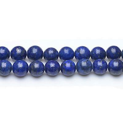 Strand Of 38+ Blue Lapis Lazuli 10mm Plain Round Beads GS0252-4