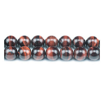 Strand Of 60+ Red/Brown Tiger Eye 6mm Plain Round Beads GS0378-2