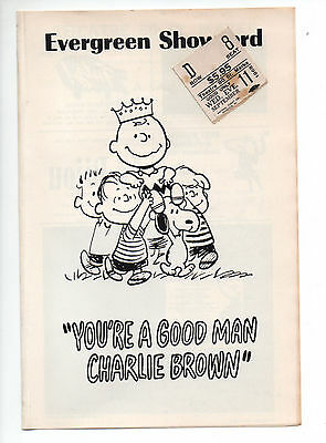 You're A Good Man Charlie Brown Theatre 80 St Marks Playbill 1968 NYC Kidwell VG