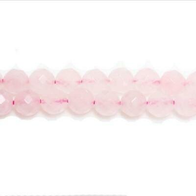Strand Of 95+ Rose Quartz 4mm Faceted Round Beads GS5464-1