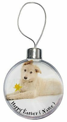 German Shepherd With Love Christmas Tree Bauble Decoration Gift AD-GS2uCB