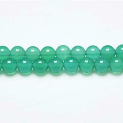 Strand Of 95+ Green Onyx 4mm Plain Round Beads GS0616-1