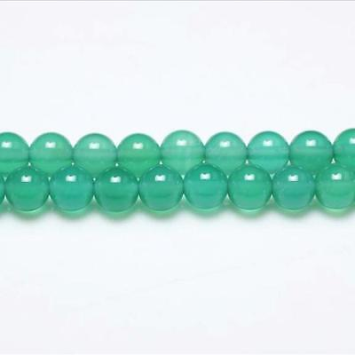 Strand Of 62+ Green Onyx 6mm Plain Round Beads GS0616-2