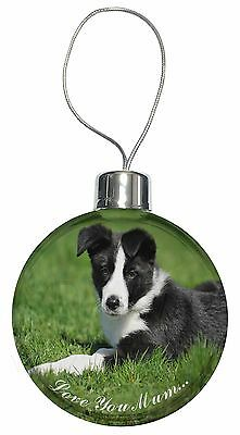 AD-CO45CB Border Collie Puppy Christmas Tree Bauble Decoration Gift