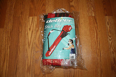 NWT DEBEER Lacrosse Scarlet Red Rip Stop Goggle Pocket Stick Bag