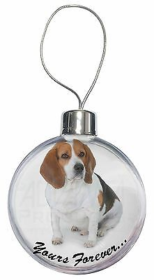 """Beagle Dog """"Yours Forever..."""" Christmas Tree Bauble Decoration Gift, AD-BEA4yCB"""