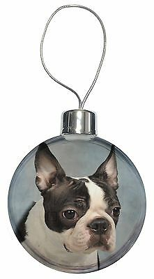 Boston Terrier Dog Christmas Tree Bauble Decoration Gift, AD-BT8CB