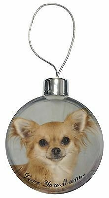 AD-CH2lymPW Chihuahua Dog /'Love You Mum/' Glass Paperweight in Gift Box Christma