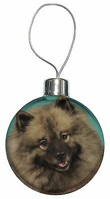 Keeshond Dog Christmas Tree Bauble Decoration Gift, AD-KEE1CB