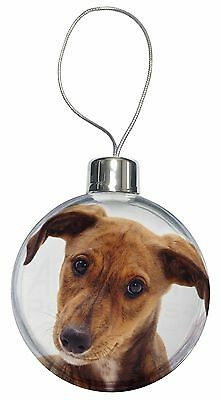 Lurcher Dog Christmas Tree Bauble Decoration Gift, AD-LU2CB