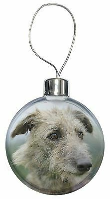 Rough Coated Lurcher Christmas Tree Bauble Decoration Gift, AD-LU6CB