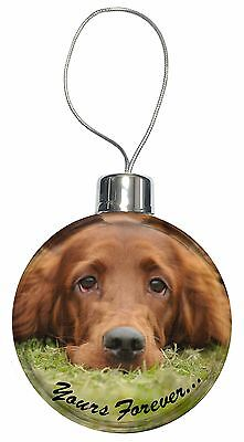 Red Setter Dog 'Yours Forever' Christmas Tree Bauble Decoration Gift, AD-RS2yCB