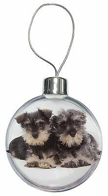 Miniature Schnauzer Dogs Christmas Tree Bauble Decoration Gift, AD-S75CB