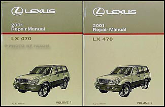 2001 Lexus LX 470 Shop Manual 2 Volume Set New Original Repair Service LX470 OEM