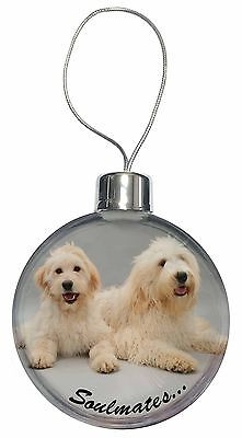 Labradoodle Dogs 'Soulmates'  Christmas Tree Bauble Decoration Gift, SOUL-40CB