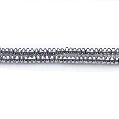 100+ Bright Silver Hematite (Non Magnetic) 3 x 4mm Saucer Rondelle Beads GS19791