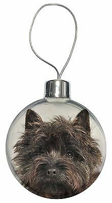 Brindle Cairn Terrier Dog Christmas Tree Bauble Decoration Gift, AT-CT2CB