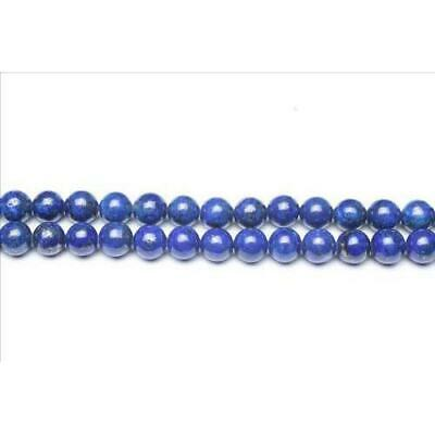 Strand Of 95+ Blue Lapis Lazuli 4mm Plain Round Beads GS0252-1