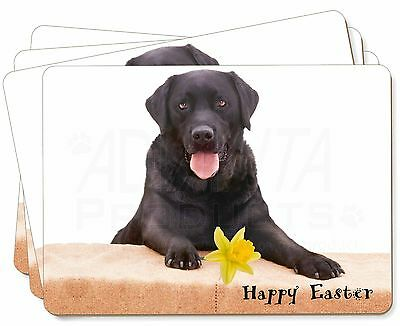 AD-L1P Black Labrador Dog Picture Placemats in Gift Box