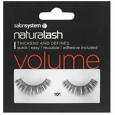 Naturalash 101 Eye Lash Strips Volume Lashes Black Adhesive Inc by Salon System