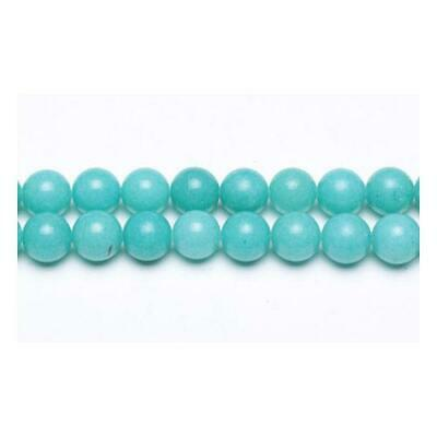 Strand Of 62+ Turquoise Malaysian Jade 6mm Plain Round Beads GS9949-2
