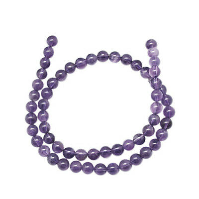 Strand Of 95+ Purple Amethyst 4mm Plain Round Beads GS1250-1