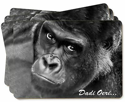 Welsh Gorilla 'Dadi Oeri' Picture Placemats in Gift Box, AM-6doP