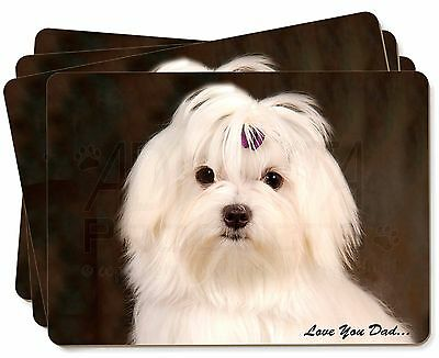 Maltese Dog 'Love You Dad' Picture Placemats in Gift Box, DAD-77P