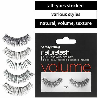 Strip Lashes Naturalash Eyes NATURAL, VOLUME or TEXTURE  ALL TYPES Salon System