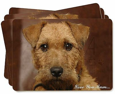Lakeland Terrier Dog 'Love You Mum' Picture Placemats in Gift Box, AD-LT2lymP