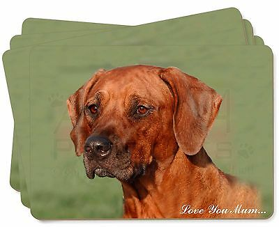 Rhodesian Ridgeback 'Love You Mum' Picture Placemats in Gift Box, AD-RR1lymP