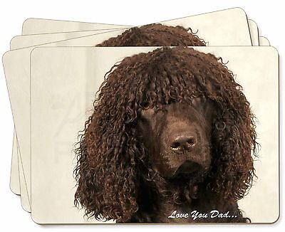 Irish Water Spaniel 'Love You Dad' Picture Placemats in Gift Box, DAD-59P