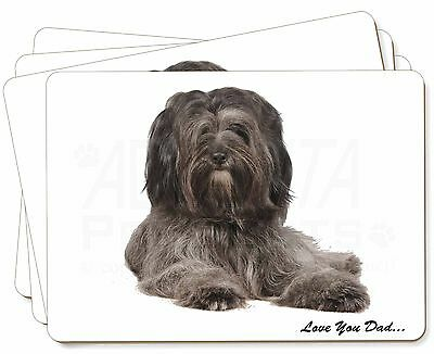 Tibetan Terrier Dog 'Love You Dad' Picture Placemats in Gift Box, DAD-192P