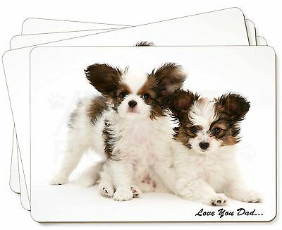 Papillon Dogs 'Love You Dad' Picture Placemats in Gift Box, DAD-83P