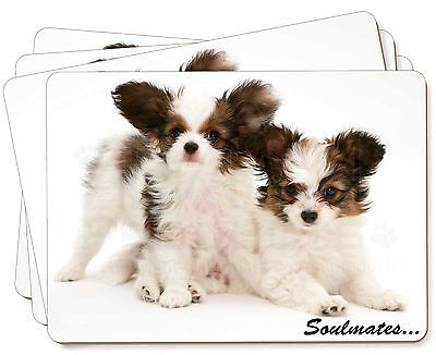 Papillon Puppy Dog 'Soulmates' Picture Placemats in Gift Box, SOUL-44P