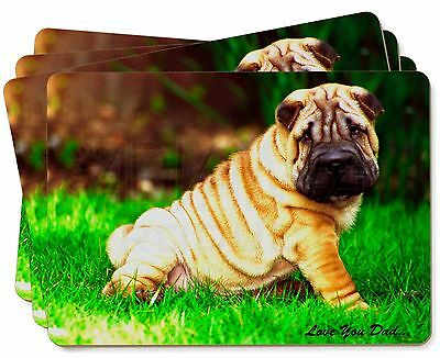 Shar-Pei Dog 'Love You Dad' Picture Placemats in Gift Box, DAD-109P