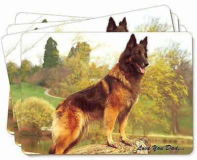 Belgian Shepherd 'Love You Dad' Picture Placemats in Gift Box, DAD-11P