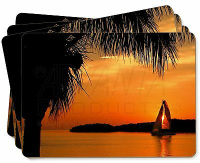 Sunset Sailing Yacht Picture Placemats in Gift Box, SUN-2P