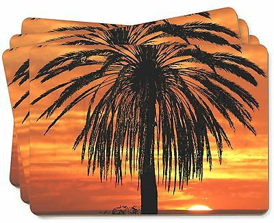 Tropical Palm Sunset Picture Placemats in Gift Box, SUN-3P