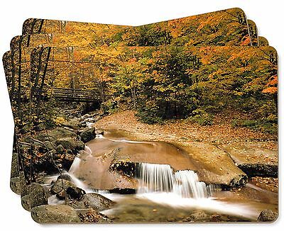 Autumn Waterfall Picture Placemats in Gift Box, W-4P