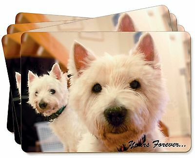 AD-W1yLBR Westie Dog /'Yours Forever/' Insulated Red School Lunch Box//Picnic Bag