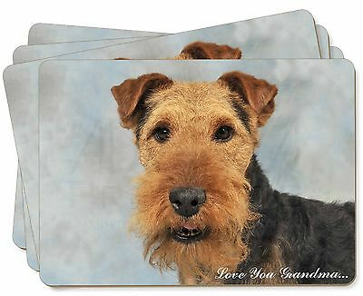 Welsh Terrier 'Love You Grandma' Picture Placemats in Gift Box, AD-WT1lygP