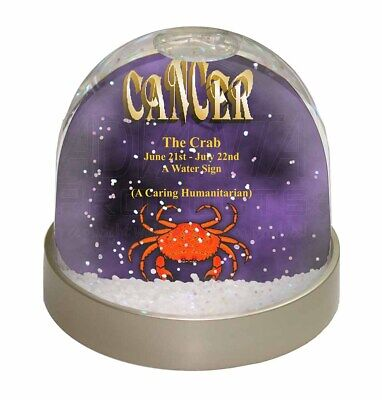 Cancer Star Sign Birthday Gift Photo Snow Globe Waterball Stocking Fill, ZOD-4GL
