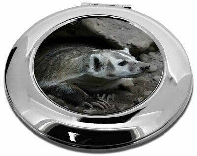 Badger on Watch Make-Up Round Compact Mirror Christmas Gift, ABA-2CMR