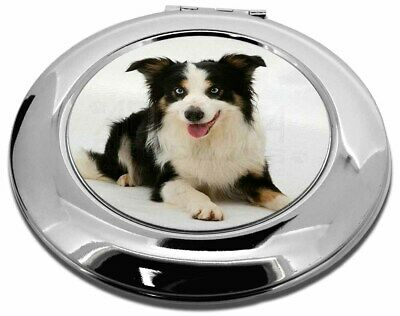 Tri-Colour Border Collie Dog Make-Up Round Compact Mirror Christmas , AD-BC35CMR