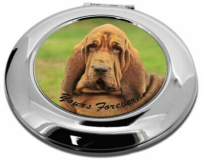 """Blood Hound Dog """"Yours Forever..."""" Make-Up Round Compact Mirror Chri, AD-BH7yCMR"""