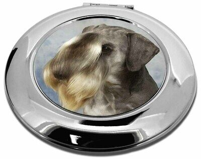Cesky Terrier Dog Make-Up Round Compact Mirror Christmas Gift, AD-CZ1CMR