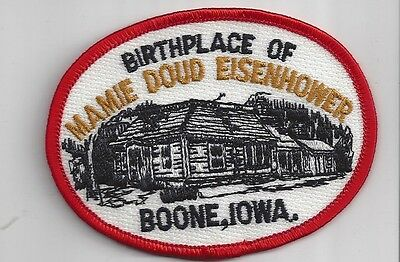Souvenir Patch - Boone, Iowa - Birthplace Of Mamie Doud Eisenhower