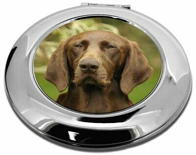 German Pointer Dog Make-Up Round Compact Mirror Christmas Gift, AD-GSP1CMR