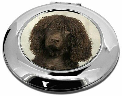 Irish Water Spaniel Dog Make-Up Round Compact Mirror Christmas Gift, AD-IWSCMR
